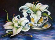 Teacup and Lilies